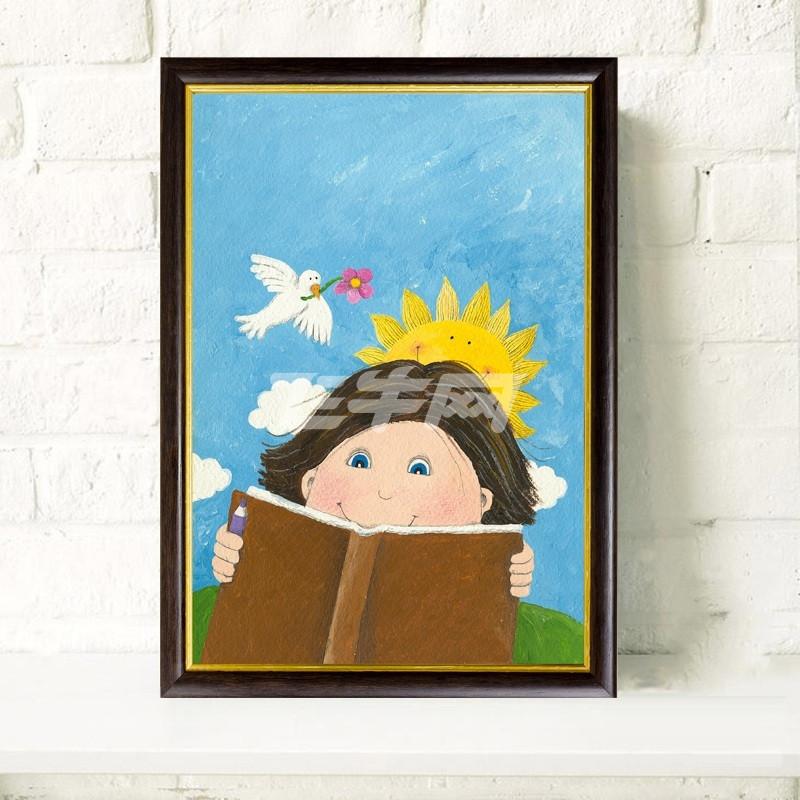 有框装饰画 现代卡通风格装饰无框画 幼儿园教室音乐室活动室帆布墙