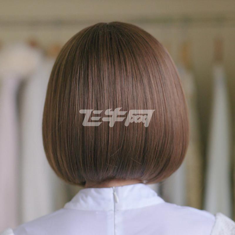 美元素假发 女 短发空气刘海bobo头 可爱女生假头发波波头女士假发套