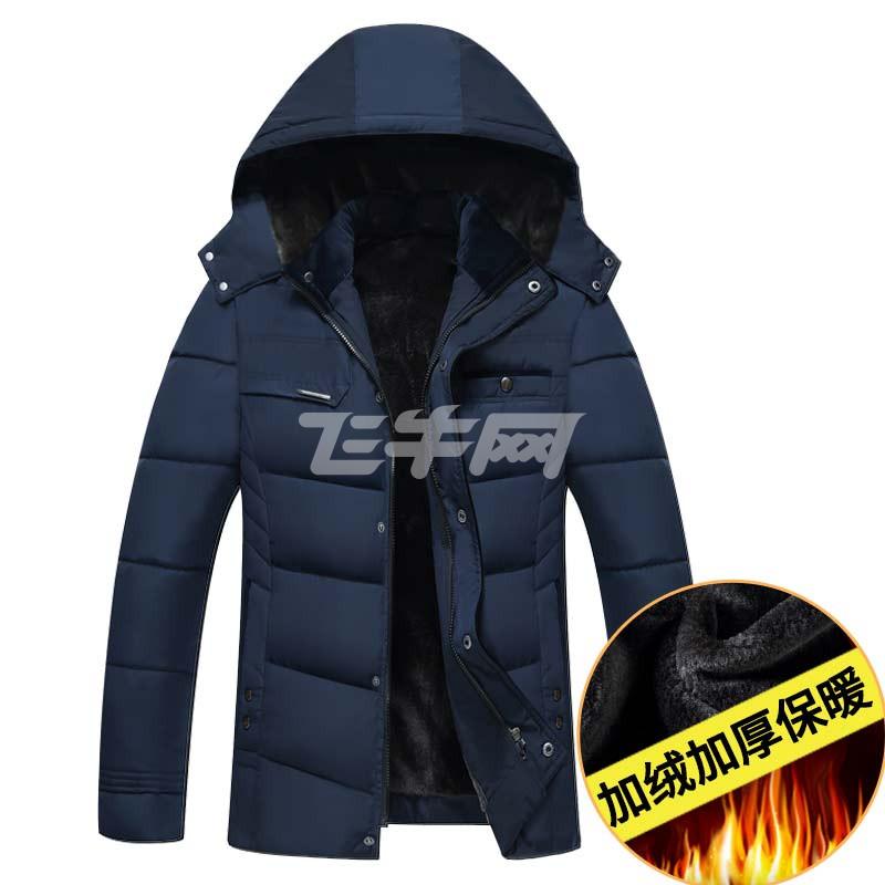 西原美中老年男士加絨加厚棉衣中年爸爸裝冬裝外套棉襖反季男裝冬季圖片