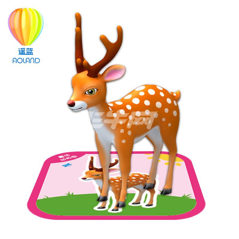 动物园涂涂乐儿童4d立体早教认知识字卡片益智玩具
