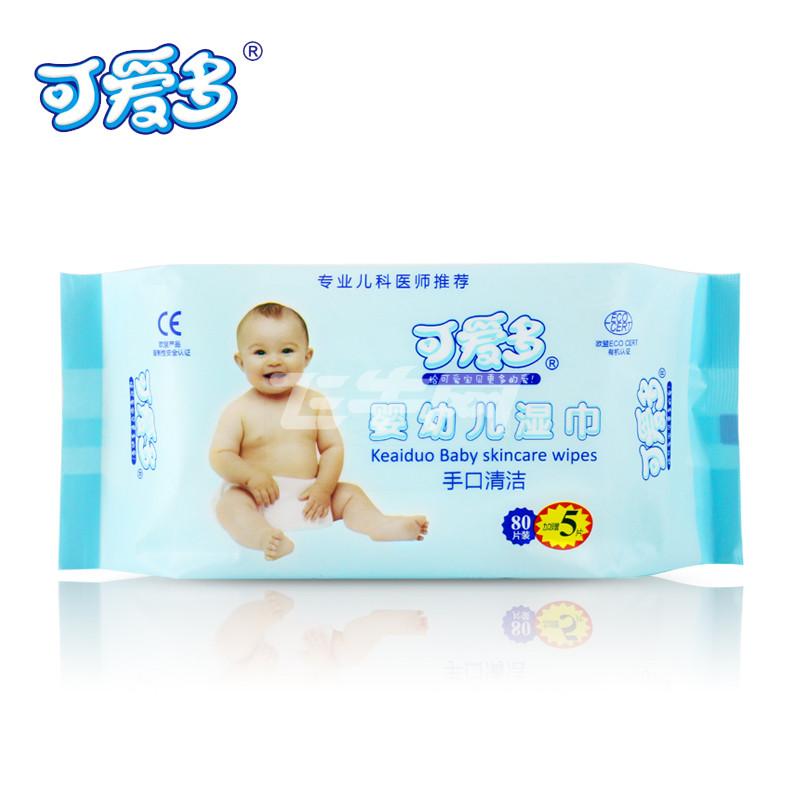 可爱多婴幼儿口手清洁湿巾85片*5包