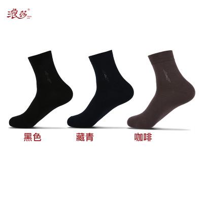 LV669浪莎纯棉6双装袜子男袜中筒四季商务休闲棉袜夏季短袜薄款透气防臭评价