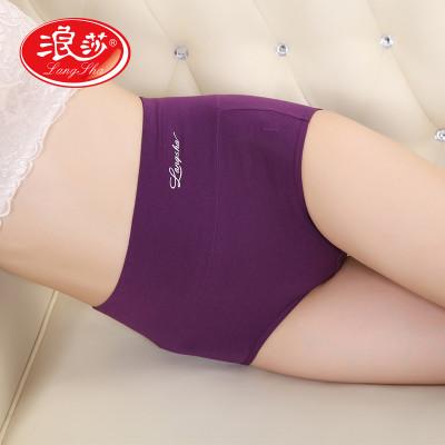 【2件7折】浪莎4条装女士内裤棉质高腰女内裤孕妇产后收腹裤三角裤价格