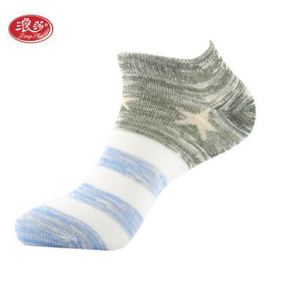 浪莎 5双装袜子男女情侣短袜船袜精梳棉运动薄款透气吸汗浅口隐形袜 休闲棉袜怎么样