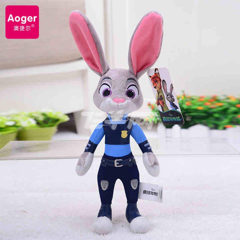 澳捷尔 迪士尼正版授权疯狂动物城公仔兔子朱迪狐狸尼克毛绒玩具 高度