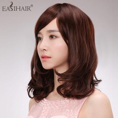 EASIHAIR简爱假发女真发假发中长金丝假发女士编发图片