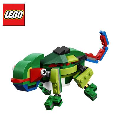 乐高LEGO雨林创意百变31031轴承正品早教拼30205图纸动物图片