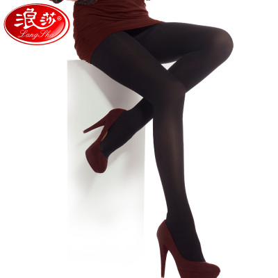3条装浪莎丝袜防勾丝连裤袜春秋款中厚美腿打底袜薄款肉色瘦腿袜子女价格
