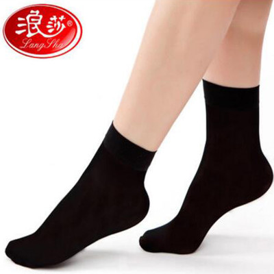 Z216浪莎5双装包芯丝短丝袜女防勾丝女士夏季薄款丝袜子女超薄肉色丝袜短袜价格