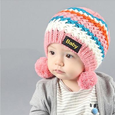 苏可儿宝宝帽子6-12月婴儿针织帽1-2岁半宝宝毛线帽