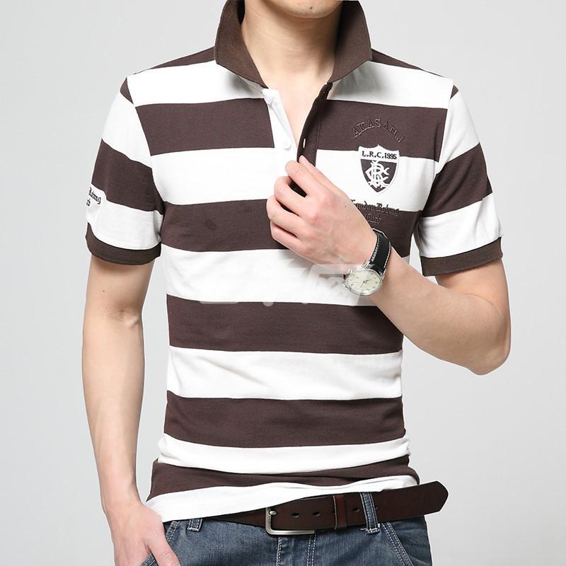卓狼2016新款夏季品牌衣服男装体恤条纹polo衫男士短袖t恤潮zt1616