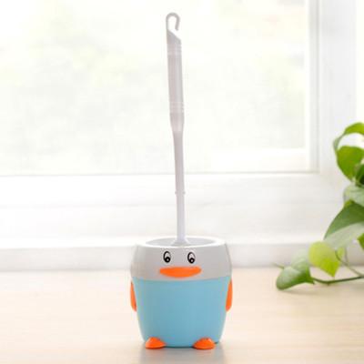 红兔子 可爱小企鹅马桶刷套装 厕所清洁刷底座 去污刷 蓝色