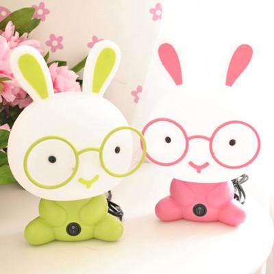 美吉特 萌兔卡通台灯 可爱男孩女孩儿童灯兔子磨砂护眼床头温馨小夜灯