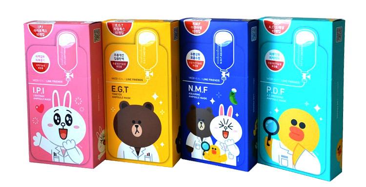 韩国可莱丝可爱卡通动物面膜贴 pdf镇静肌肤针剂补水面膜10片