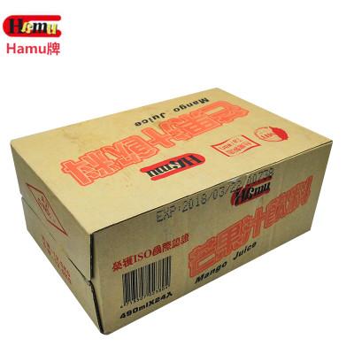 台湾地区进口 hamu 果汁饮料 490ml*24
