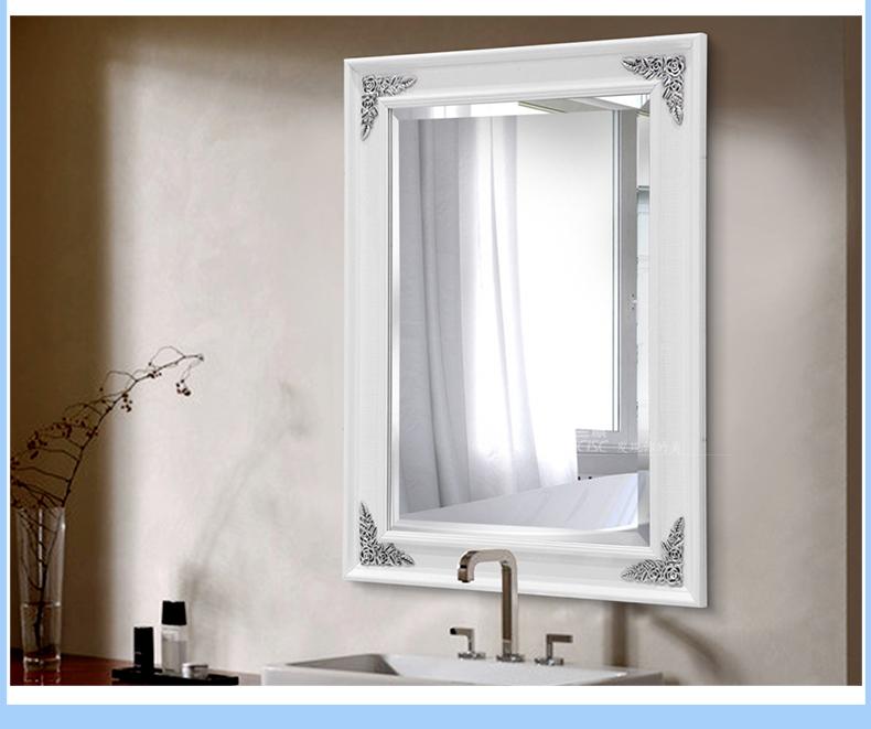法兰棋银镜 欧式浴室镜子 防雾水卫浴镜卫生间镜子 洗漱镜梳妆镜k8533
