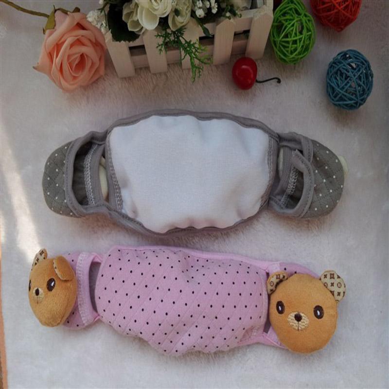 红兔子 耀点100 秋冬季可爱卡通二合一连体护耳口罩耳罩 粉色卡通随机
