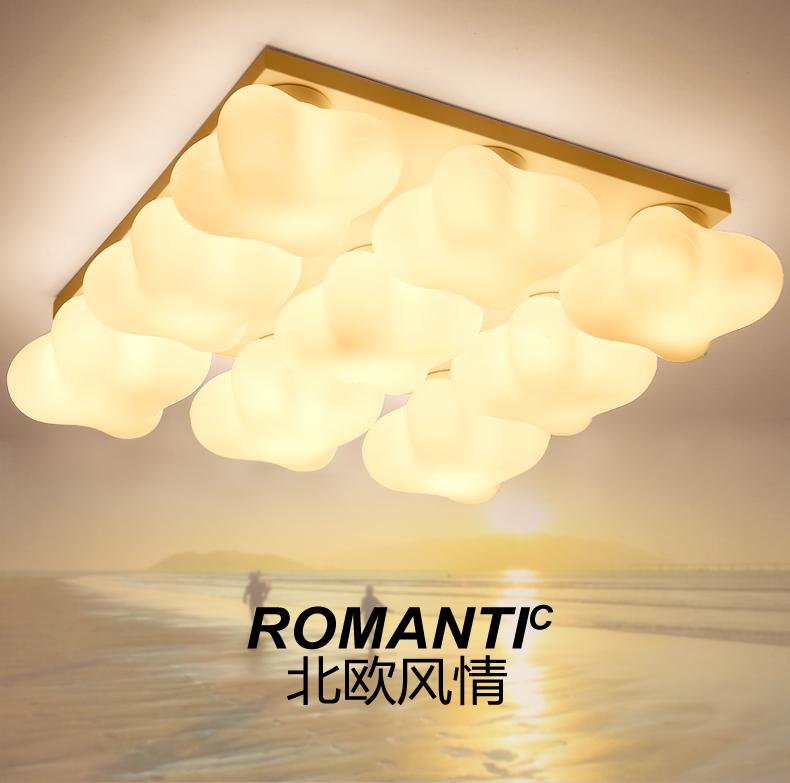 美吉特 北欧风格吸顶灯 玻璃简约 客厅 书房 卧室 阳台 宜家风格灯