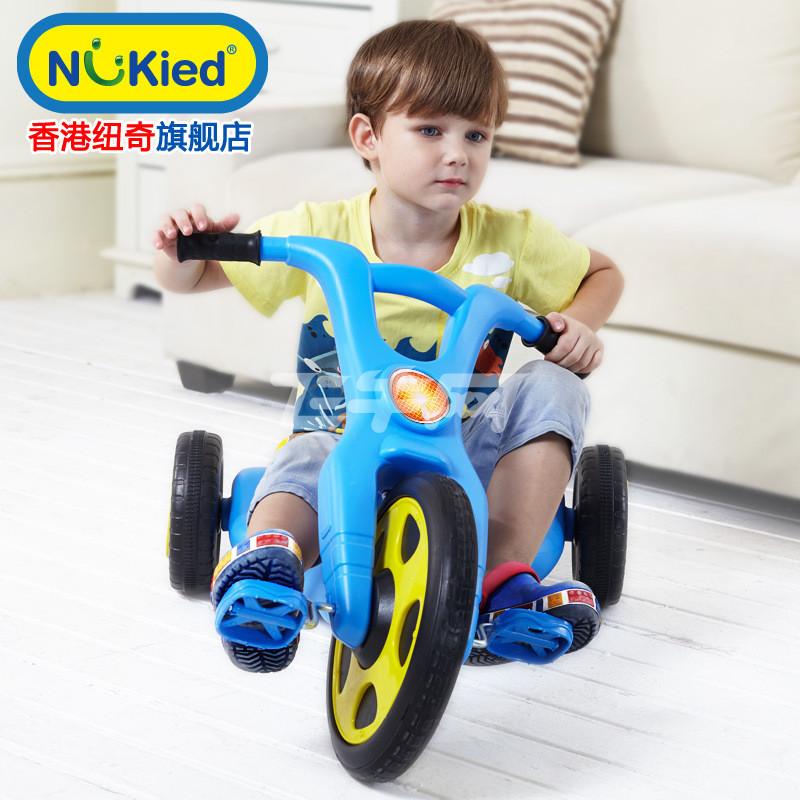 纽奇正品 玩具 儿童多功能三轮车 宝宝脚踏手推车