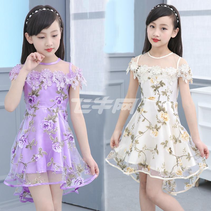六一儿童童装女童夏装儿童连衣裙2017新款韩版5-7-9-11岁小女孩公主