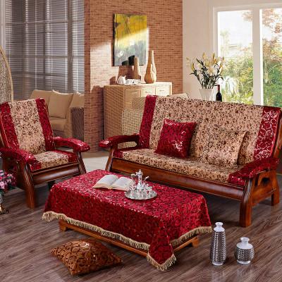 萝芙森 实木沙发垫 烫金加厚防滑慢回弹红木沙发垫