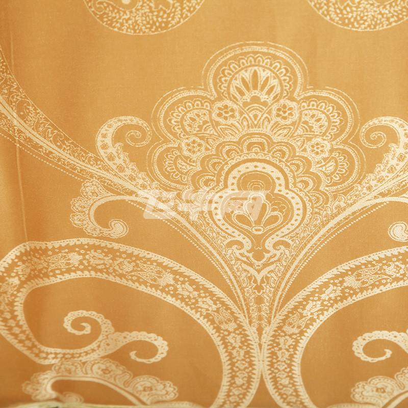 昭辰家纺 全棉贡缎提花 欧式提花婚庆四件套,欧式圆角床单 双人刺绣提