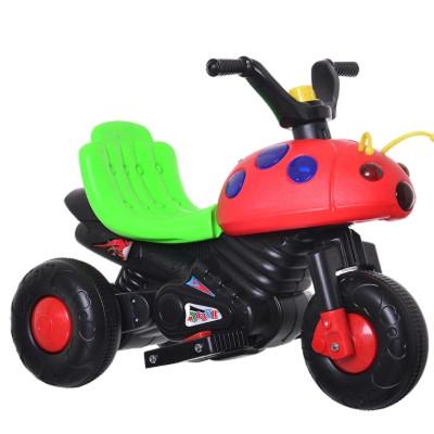 虹乐儿童电动车摩托车三轮车宝宝电动汽车甲壳虫儿童玩具车小孩可坐骑